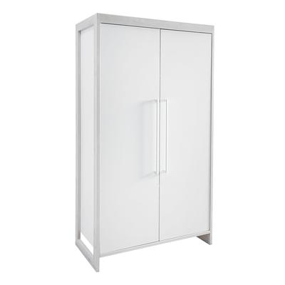 Armoire 2 portes Twf Frame - Blanc et bois