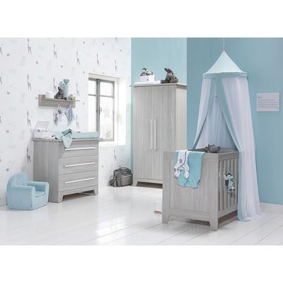 Chambre complète lit bébé 60x120 - commode 3 tiroirs - armoire 2 portes Twf London - Bois