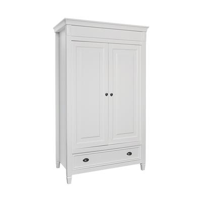 Armoire 2 portes 1 tiroir Twf Marbella - Blanc