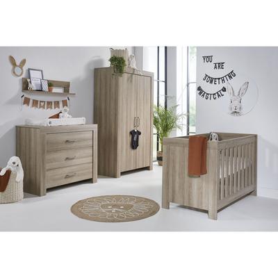 Chambre complète lit bébé 60x120 - commode 3 tiroirs - armoire 2 portes Twf Nashville - Bois
