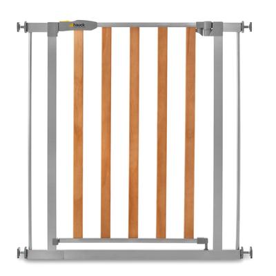 Barrière de sécurité Hauck Woodlock 2 - Bois et gris