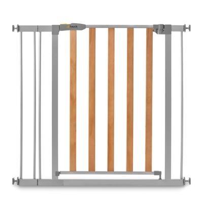 Barrière de sécurité Hauck Woodlock 2 + extension 9cm - Bois et gris