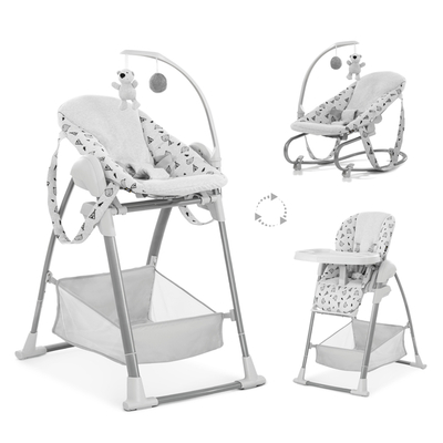 Chaise Haute Hauck Sit n Relax 3in1 - Nordic Grey