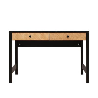 Bureau 2 tiroirs Bopita Job - Noir et bois