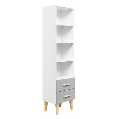 Bibliothèque Bopita Emma - Blanc et gris