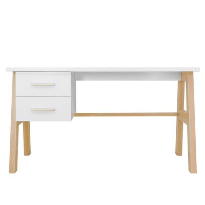 Bureau 2 tiroirs Bopita Lisa - Blanc