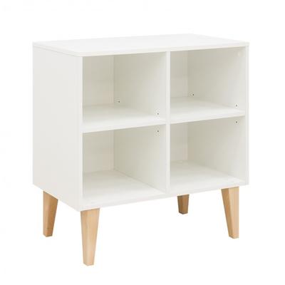 Bibliothèque basse 4 niches Bopita Indy - Blanc