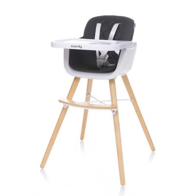 Chaise haute évolutive de 6 mois à 5 ans Vox Scandy - Noir