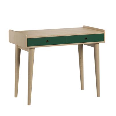 Bureau 2 tiroirs Vox Retro - Bois Vert