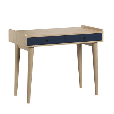 Bureau 2 tiroirs Vox Retro - Bois Bleu