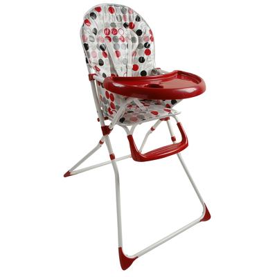 Chaise Haute King Bear - Coussin imprimé plateau rouge
