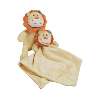 Peluche et doudou en fleece pour bébé King Bear Lion - Jaune