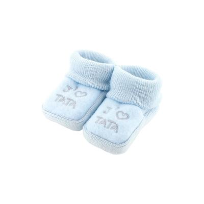 Chaussons pour bébé 0 à 3 Mois bleu - J'aime tata