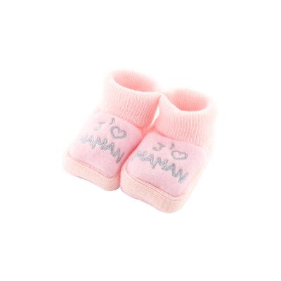 Chaussons pour bébé 0 à 3 Mois rose - J'aime maman