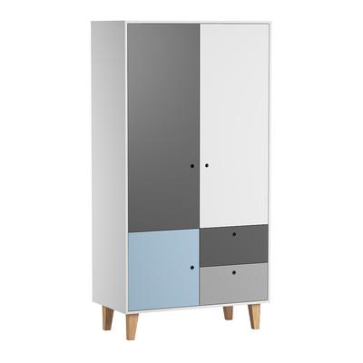 Armoire 2 portes Vox Concept - Bleu