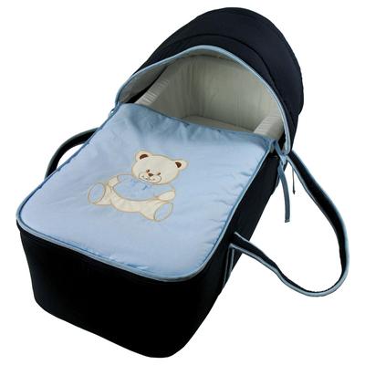 Couffin pour bébé bleu nuit - Motif Nounours