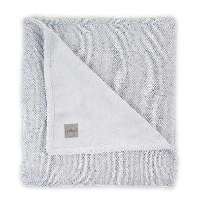 Couverture bébé Jollein 75x100cm Confetti Knit Teddy - Gris