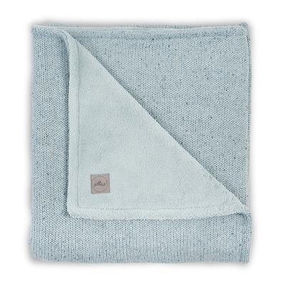 Couverture bébé Jollein 75x100cm Confetti Knit Teddy - Vert d'eau
