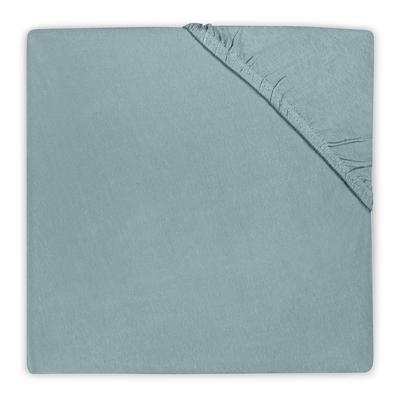 Drap housse en coton Jollein 60x120cm - Vert d'eau