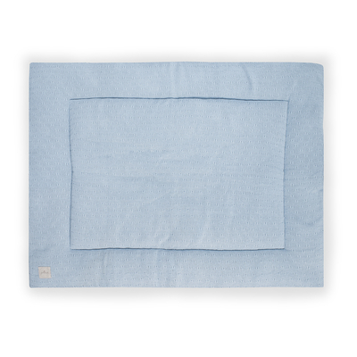 Tapis de parc Jollein 80x100cm Soft Knit - Bleu