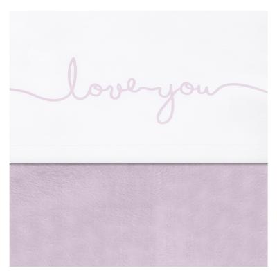 Drap Jollein 75x100cm Love you - Rose