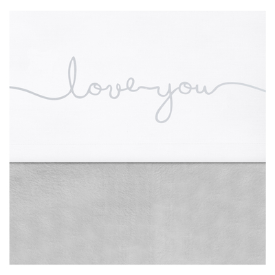 Drap Jollein 75x100cm Love you - Gris