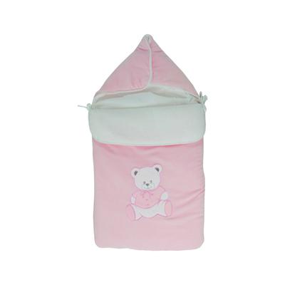 Nid d'ange pour bébé 0 à 6 Mois rose - Motif Nounours