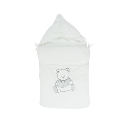Nid d'ange pour bébé 0 à 6 Mois blanc - Motif Nounours
