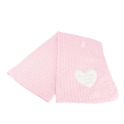 Couverture châle pour bébé rose - Je suis le rêve de mes parents