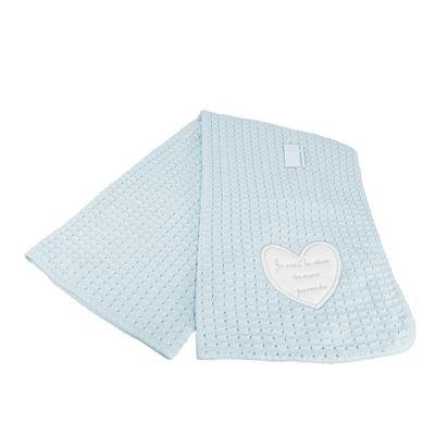 Couverture châle pour bébé bleu - Je suis le rêve de mes parents