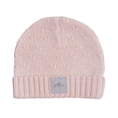 Bonnet pour bébé 2 à 9 Mois Jollein Soft Knit - Pêche