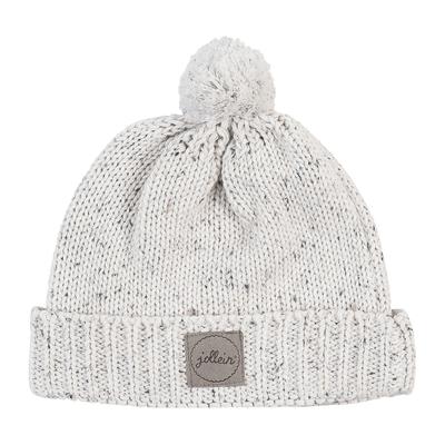 Bonnet pour bébé 9 à 18 Mois Jollein Confetti Knit - Naturel