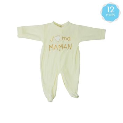 332cd7e65e0e Babygro pour bébé 12 Mois beige - J aime ma maman