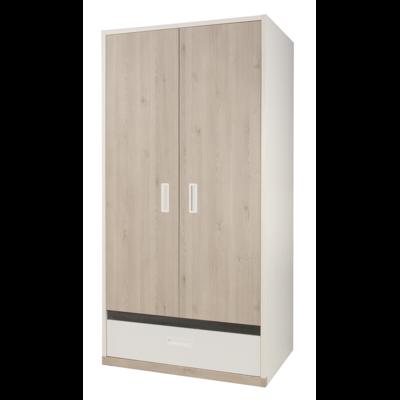 Armoire 2 portes Gami Tiago - Blanc Bois
