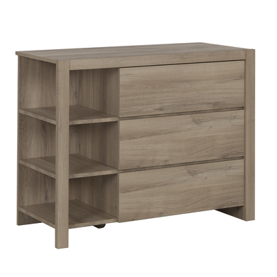 Commode 3 tiroirs Gami Ethan - Bois
