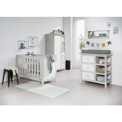 Chambre complète lit bébé 60x120 - commode à langer - armoire Twf Nice - Bois