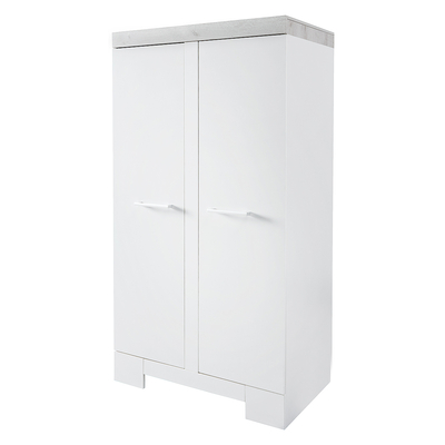 Armoire 2 portes Twf Futura - Blanc Gris