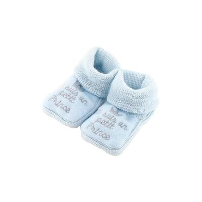 Chaussons pour bébé 0 à 3 Mois bleu - Je suis un petit prince