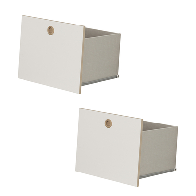 Option 2 tiroirs pour chambre Galipette Lora - Blanc