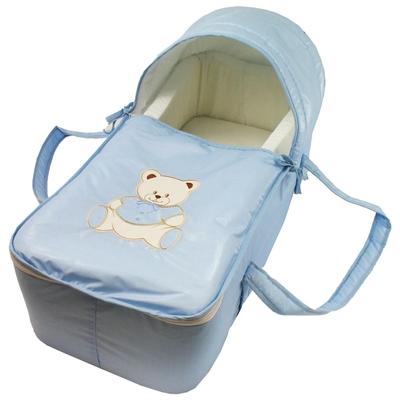 Couffin pour bébé bleu ciel - Motif Nounours