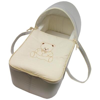 Couffin pour bébé gris et beige - Motif Nounours