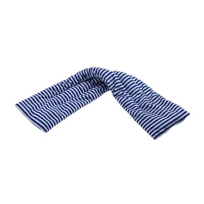 Tour de cou bouillotte micro-ondes naturel Pelucho - Rayé Bleu