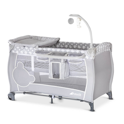 Lit de voyage Hauck Babycenter - Teddy Grey