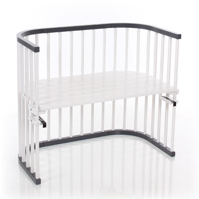 Berceau cododo Babybay Maxi - Laqué gris ardoise et blanc