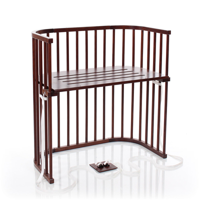 Berceau cododo Babybay Boxspring - Laqué brun foncé