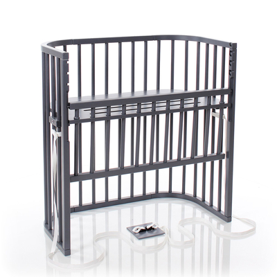 Berceau cododo Babybay Boxspring Comfort - Laqué gris ardoise
