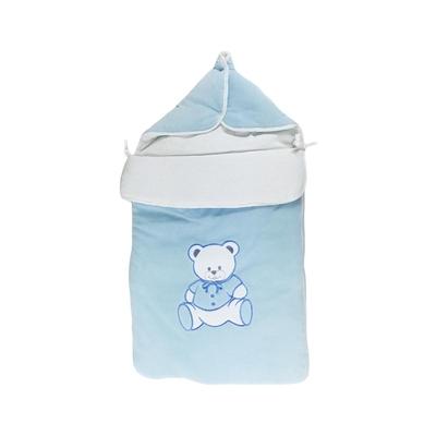 Nid d'ange pour bébé 0 à 6 Mois bleu - Motif Nounours