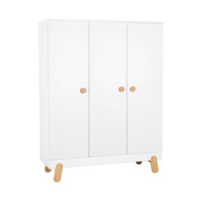 Armoire 3 portes Pinio Iga - Blanc et bois