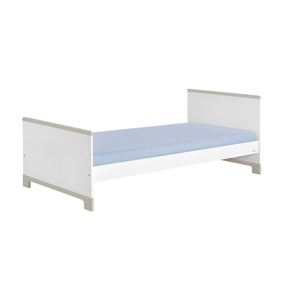 Lit junior 90x200 Pinio Mini - Blanc et gris