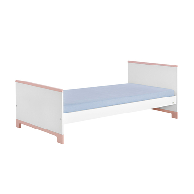 Lit junior 90x200 Pinio Mini - Blanc et rose